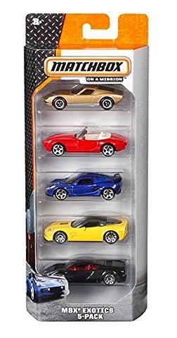 Mattel Matchbox C1817 5er-Geschenkset, je 5 Fahrzeuge, zufällige