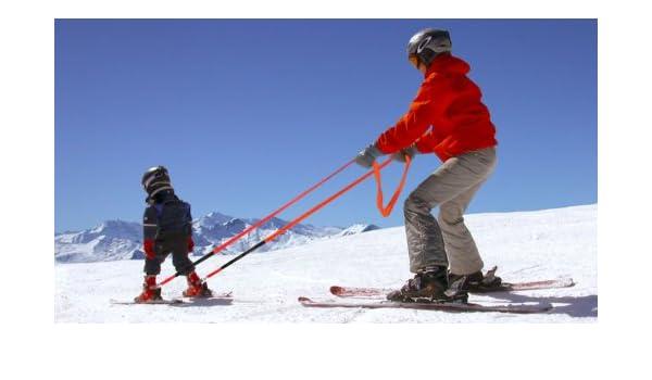 KUU Kids Ski Waist Harness Kinder-Ski-Leine mit Brustgurt schwarz