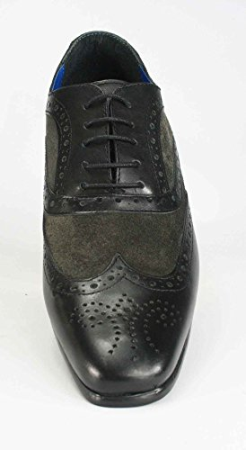 Red Tape richelieu à lacets Smart Casual Chaussures en cuir marron bleu marine Brun Clair en daim noir noir/gris