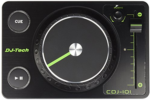 DJ-Tech CDJ-101 Ultraleichter USB Midi Controller im CD-Player-Design mit 100-mm Pitchfader (Midi-player)