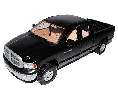 Motormax Dodge Ram Quad Cab 2002 Schwarz Pick Up 1/18 Motor Max Modellauto Modell Auto -