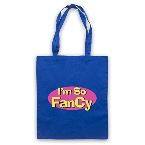 I'm So Fancy Slogan Tote Bag Blu
