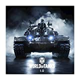 Spreadshirt World of Tanks M48A5 Patton Quadratisches Poster 40x40 cm, Weiß
