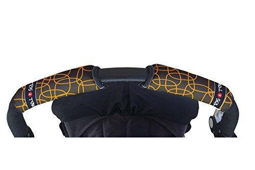 Tris&Ton Fundas empuñaduras horizontal doble Modelo Mic-mic, empuñadura funda para silla de paseo...