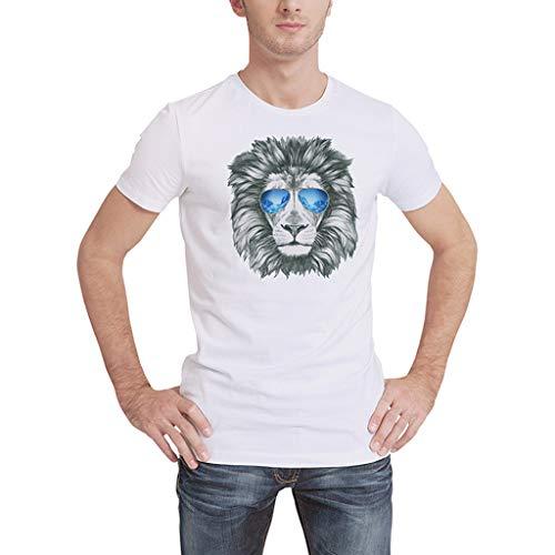SamMoSon 2019 Camiseta de Calavera en 3D para Hombres Casual...