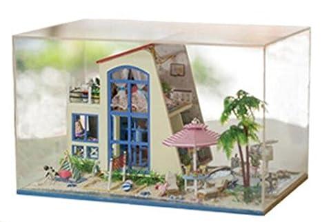 Haus Minihaus Möbel Kit Dekoration Haus Miniatur Handwerk Holz Puppenhaus