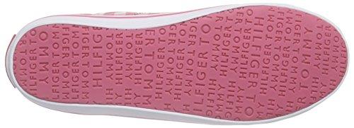 Tommy Hilfiger S3285later 6d-2, Baskets Basses fille Rose - Pink (GINGHAM PRINT 940)