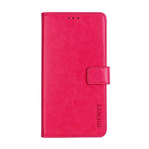 Belle Rose Geldbörse (BELLA BEAR Case für Xiaomi Mi 9 SE,Leder Brieftasche Geldbörse Halterung Funktion Weichem PU Material Phone Case Cover for Xiaomi Mi 9 SE Hülle(Rose rot))