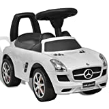 WT Trade Premium Mercedes Benz SLS AMG Rutschauto Kinderauto | Weiß | mit 6 Geräuschen | Lauflernwagen Rutscher Kinderfahrzeug Rutscher | Rutschfahrzeug Aufsitz-Auto Bobby Car bobycar