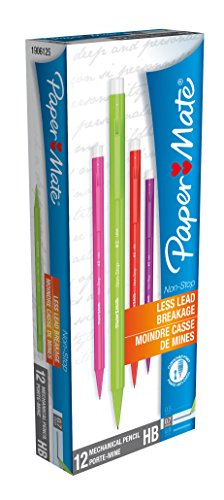 paper-mate-non-stop-mechanical-pencil-hb-07mm-assorted-colours-box-of-12