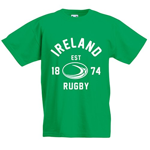 Kids Irlanda Balón Rugby camiseta manga corta Verde