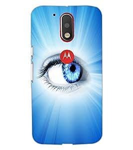 Printdhaba Blue Eye D-5798 Back Case Cover For Motorola Moto G4 Plus
