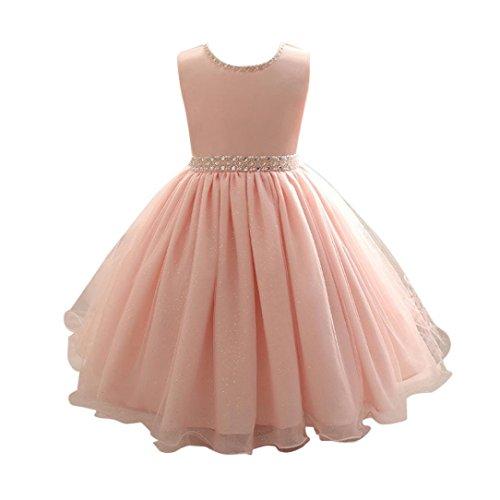 Jungen 50er Kostüm Kleinkind Jahre - OverDose Kinder Mädchen Perlen Kleid Prinzessin formale Festzug Urlaub Hochzeit Brautjungfer Kleid Party Abend Kleider(A-Rosa,5T)