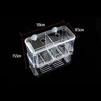 High-Transparent Self-Floating Multi-Function Fish Floating Fish Aquarium Hatchery Hatchery Box Double Layer Fish Tank… 6