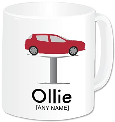 Personalised Mechanic Gifts - Car Mechanic Mug (A GoPersonalised Design). Any Name Any Message. Profession Occupation Male Car Garage Mechanic Engineer Technician Themed Design. A Perfect Unique Mechanic Present Idea For Birthday, Christmas, Thank You Gifts and ALL