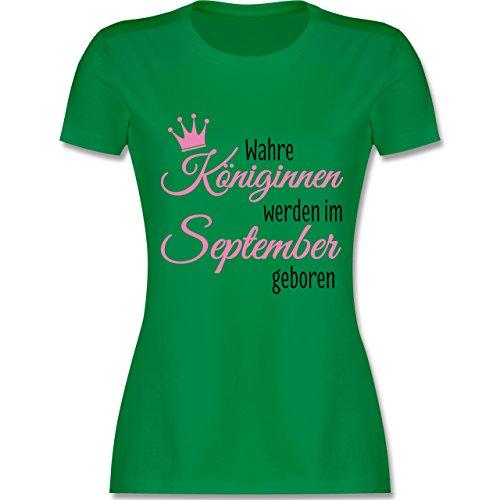 Geburtstag - Wahre Königinnen Werden IM September Geboren - Damen T-Shirt Rundhals Grün
