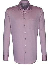 Seidensticker Herren Langarm Hemd Splendesto Regular Fit Business Kent Patch4 rot strukturiert 110906.44
