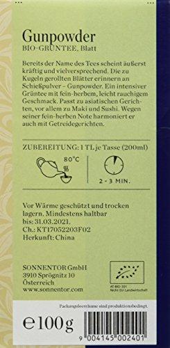 Sonnentor Chines. Grüntee Gunpowder lose, 1er Pack (1 x 100 g) – Bio