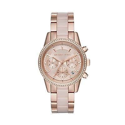 Michael Kors MK6307 - Reloj de cuarzo con correa de acero inoxidable para mujer, color rosa