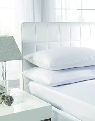 Sunshine Comforts® 5* Egyptian Cotton 200 Thread Count White 4x Pillow Cases (2pack) Great Value from