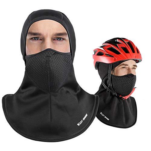 Winddichtes Balaclava-Fleece, volles Gesicht-Skimaske für Männer, Windschutz-Warmmütze, Winter-Fleece-Gesichtshaube, Fit-Helm-Mütze Skifahren, Radfahren, Motorrad, Outdoor-Sport - Erwachsene Universal