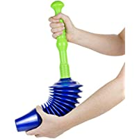 Luigi's - The World's Best Toilet Plunger: Big, Bad & Powerful. Clears and Unblocks all Toilets With Unique Bellows Design (Updated 2018)