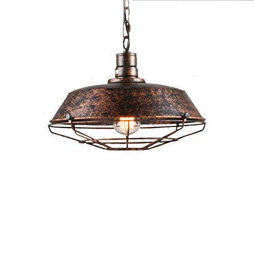 JM Industrieller Kronleuchter, Industrielle Metallkäfig-Deckenleuchte, Semi Flush Mounted Pendelleuchte Dome/Bowl-förmige Lampe -