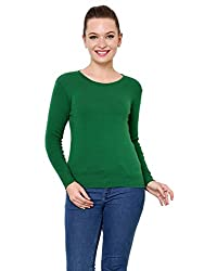 Renka Womens Woolen Sweater(skivvy_rn_green_S_Green_Small)