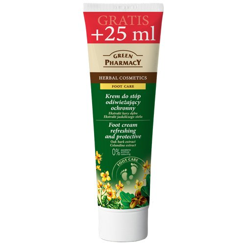 Crema de pies 100 ml /extracto de corteza de roble, aceite de árbol de té y celidonia /previene el olor desagradable durante 5 días