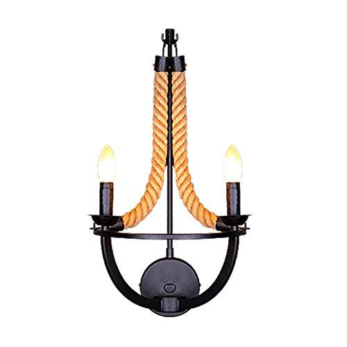 Kerzenständer Wandleuchte Wandleuchte Talent Designer Leuchte Westlichen Stil Rustikale Retro Pastoralen Ideen Nacht Schlafzimmer Wohnzimmer Balkon Hanfseil Wandleuchte ()