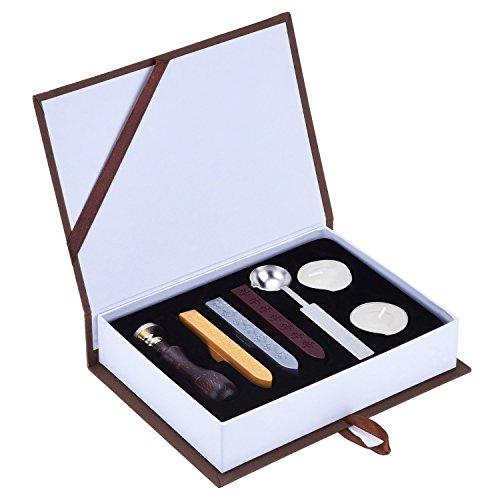 Geburtstag-kerze-sticks (yunqi Vintage Wachs Siegel Stempel Siegelwachs Sticks Melting Löffel Kerzen Set mit Geschenk-Box)