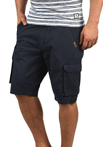 SHINE Original Michigan Herren Cargo Shorts Bermuda Kurze Hose aus 100% Baumwolle Regular Fit, Größe:L, Farbe:Dark Navy