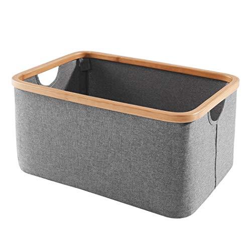 Regal Mehrschichtige Klassifizierung Ablagekorb Behindern Faltbare Haushaltsbad Bambustuch (Farbe : Square storage basket) -