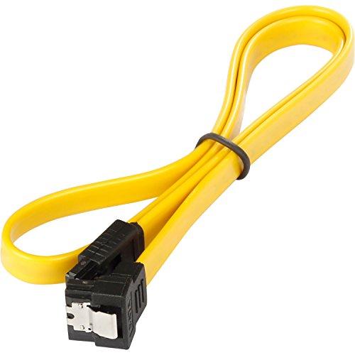 Poppstar 3x 50cm S-ATA 3 HDD SSD Datenkabel (Stecker gerade auf gewinkelt), Sata Kabel für DVD, BlueRay, Festplatte, Motherboard, PC Case Modding uvm., gelb