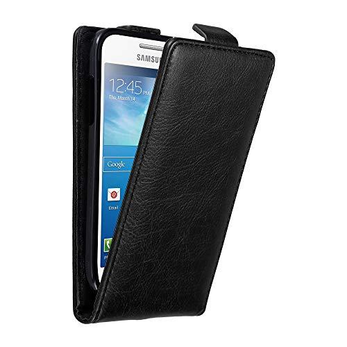 Cadorabo Funda para Samsung Galaxy S4 Mini in Negro Antracita - Cubierta...