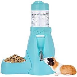 ShareWe Distributeur d'eau Bouteille Automatique pour Animaux de Compagnie pour Hamsters Rats Guinées Furets Lapins Petits Animaux (80ML, Bleu)