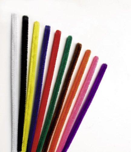 GLOREX chenilles cure-pipes, rouge, 31 x 8,5 x 1,5 cm