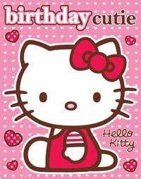 Gifts 4 All Occasions Limited SHATCHI-937 - Tarjeta de felicitación de cumpleaños con pegatinas, diseño de Hello Kitty