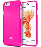 KILRELF Neon Sign Style [Fluorescent Color] Soft TPU Rubber Cover [Flexible] Jelly Case [Drop Protection] for (iPhone 6 Plus / 6s Plus, Neon Pink)