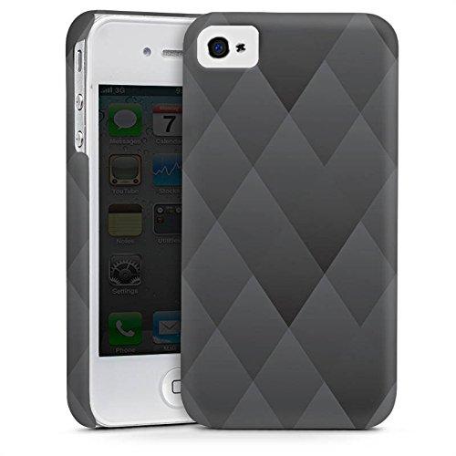 Apple iPhone 4 Housse Étui Silicone Coque Protection Anthracite Moderne Motif Cas Premium mat