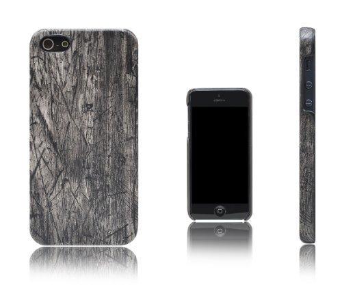Xcessor Wood Texture Hart Plastik Schutzhülle mit Holz Textur-Effekt Für Apple iPhone SE / 5S / 5. Schwarz / Eiche