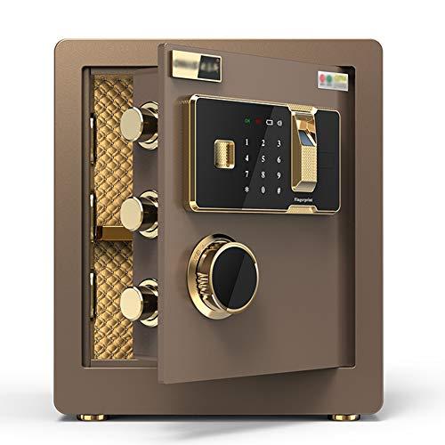 Caja Fuerte de Seguridad,36x30x40cm Reconocimiento de Huellas Dactilares Electrónica de Caja de...