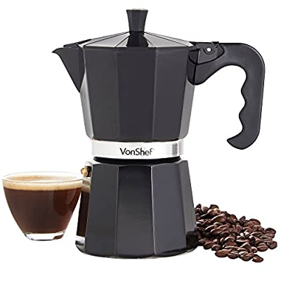 VonShef 3/6/9 Cup Italian Espresso Coffee Maker - Includes a Replacement Gasket and Filter by VonShef
