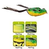 Jackson Frosch 6,5cm 14g - Köder Gummifrosch, Hechtköder zum Spinnfischen, Gummiköder zum Hechtangeln, Creature Baits zum Hechtfischen