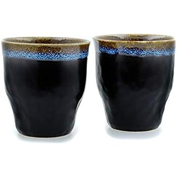 Dunes de sable Blanc en c/éramique japonaise Tasses /à th/é X 2