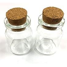 12 botellas de cristal pequeñas (con tapón de corcho Guardar Las cuentas ...