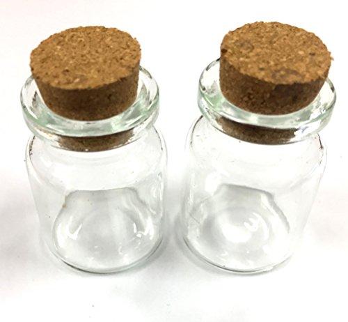 12 kleine Glasflaschen mit Korkverschluss zum Aufbewahren von Perlen oder Duftöle
