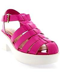 Mujer Mediados Talón Gladiador Plataforma Zapatos Tacón Grueso Sandalia