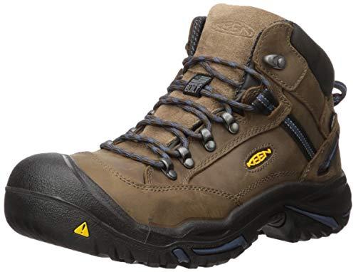 Keen Utility Men's Braddock Mid AL WP M Work Boot, Bison/Ensign Blue, 13 D US Wp Work Boot