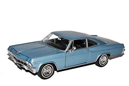 chevrolet-impala-ss396-1965-coupe-eis-blau-metallic-1-24-welly-modell-auto-mit-individiuellem-wunsch